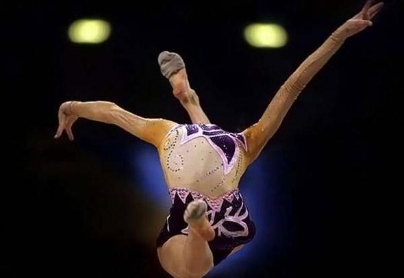 Athletes Optical Illusion