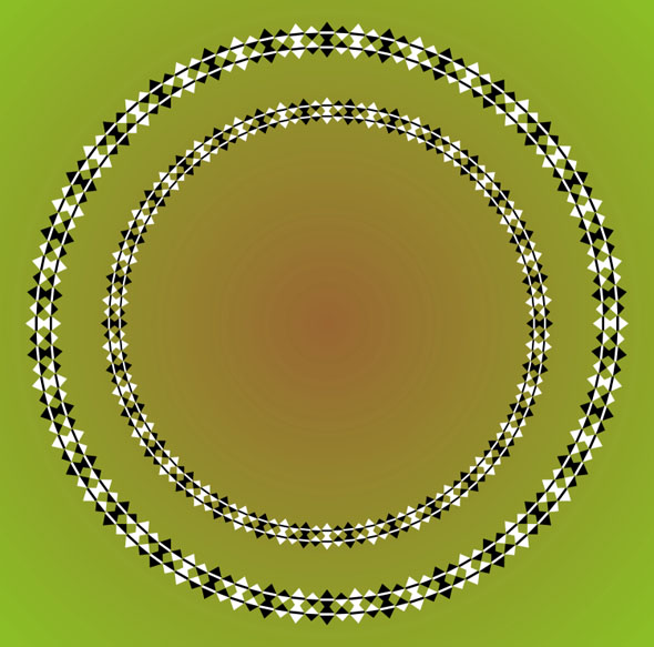 Optical Illusion Spiral - Concentric Circles 7