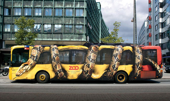 Danish Bus Optical Illusion