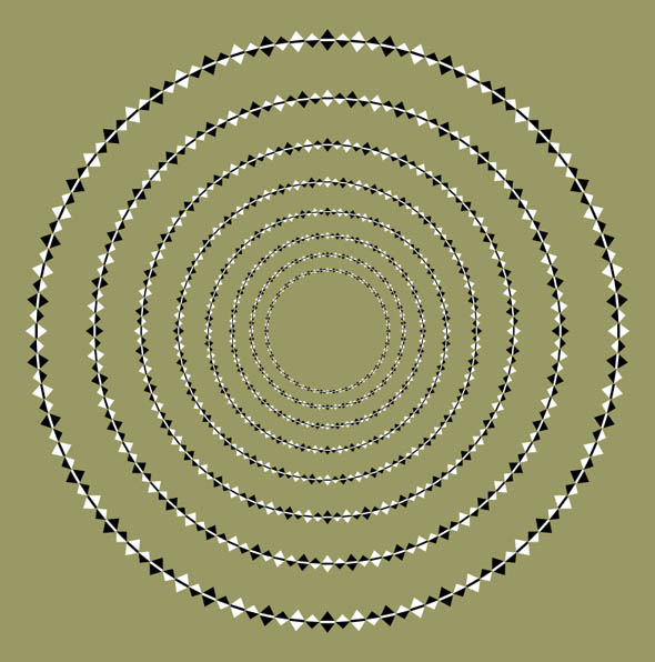 Optical Illusion Spiral - Concentric Circles 5
