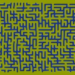 Floating Maze Optical Illusion