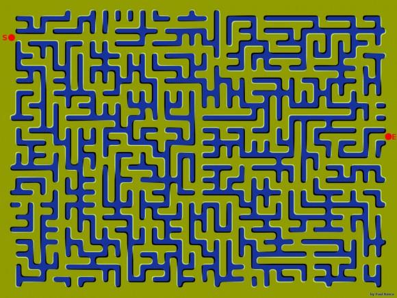 Floating Maze Optical Illusion