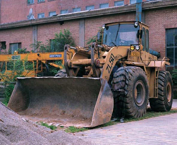 Liu Bolin Hiding in the City No. 71- Bulldozer, 2008