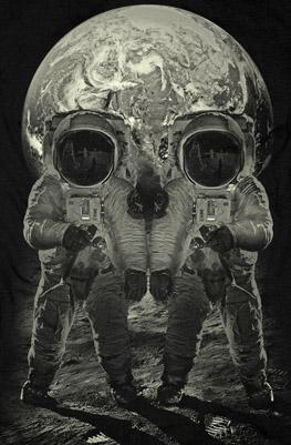 Astronauts Skull Illusion