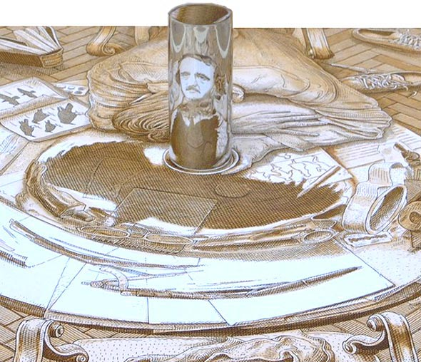 Anamorphic Portrait Optical Illusion