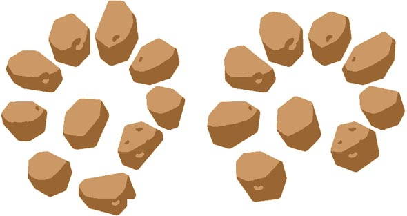 how many rocks optical illusion