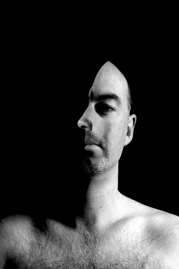 Man in Black Optical Illusion