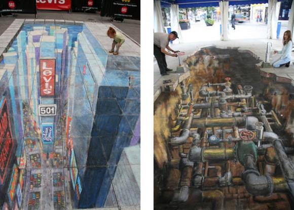3d рисунок в торговом центре в омске