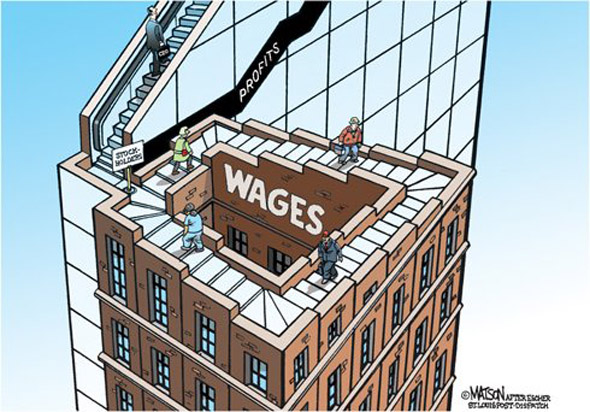Rising Wages Optical Illusion