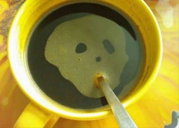 Coffee Skull Optical Illusion