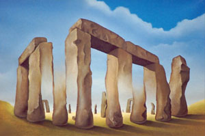 Stonehenge Optical Illusion