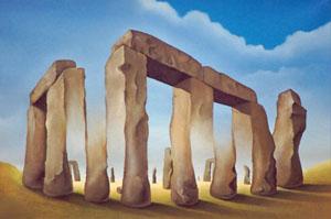 Stonehenge Optical Illusion