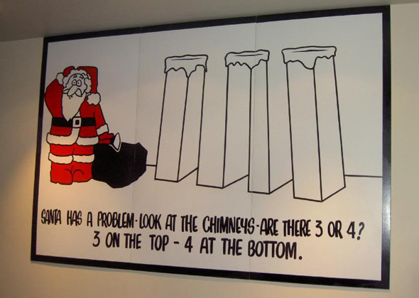 Santas Chimneys Illusion