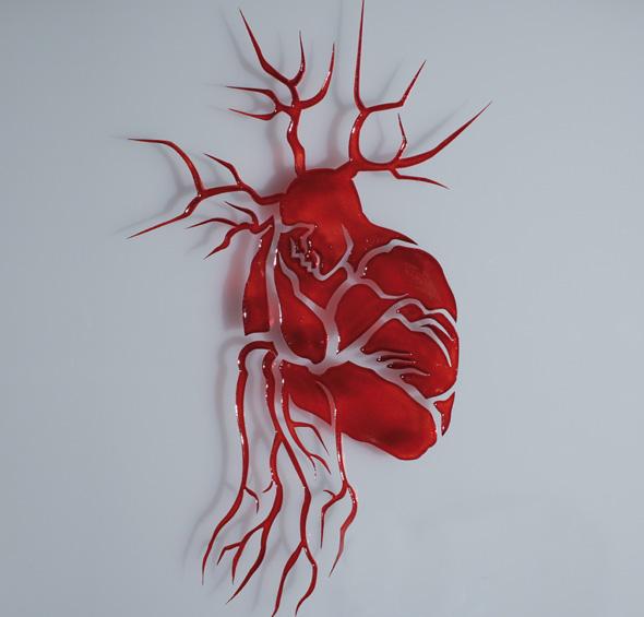 Human Heart Optical Illusion