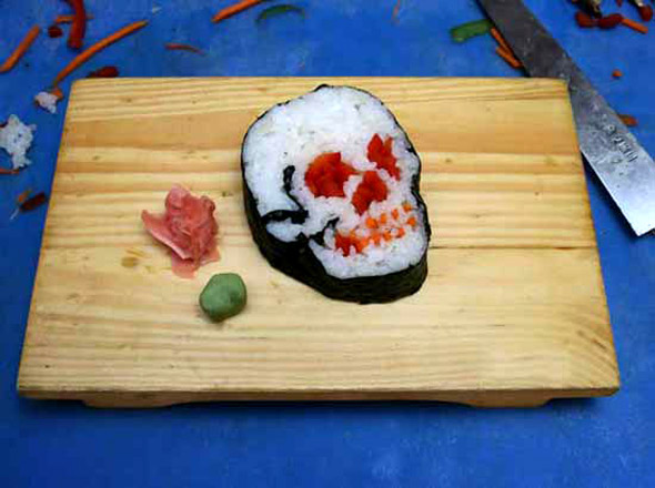 Scary Sushi Optical Illusion