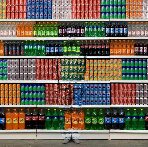 Camouflage Cans by Liu Bolin