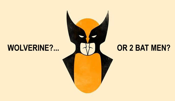Wolverine or 2 Bat Men ?