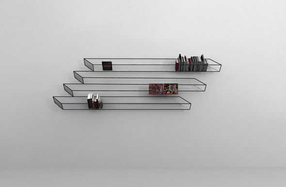 Optical Illusion Bookshelf 1