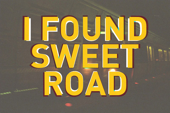 Sweet Road Optical Illusion