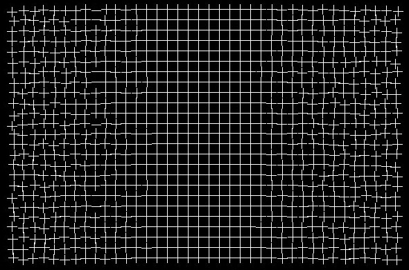 Distorted Grid Optical Illusion