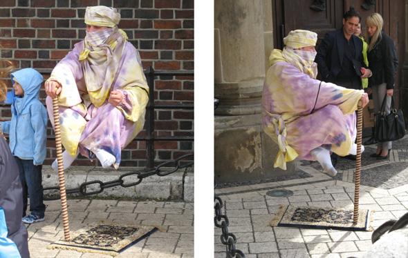 Levitating Street Performer