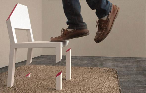 Cut Chair Optical Illusion