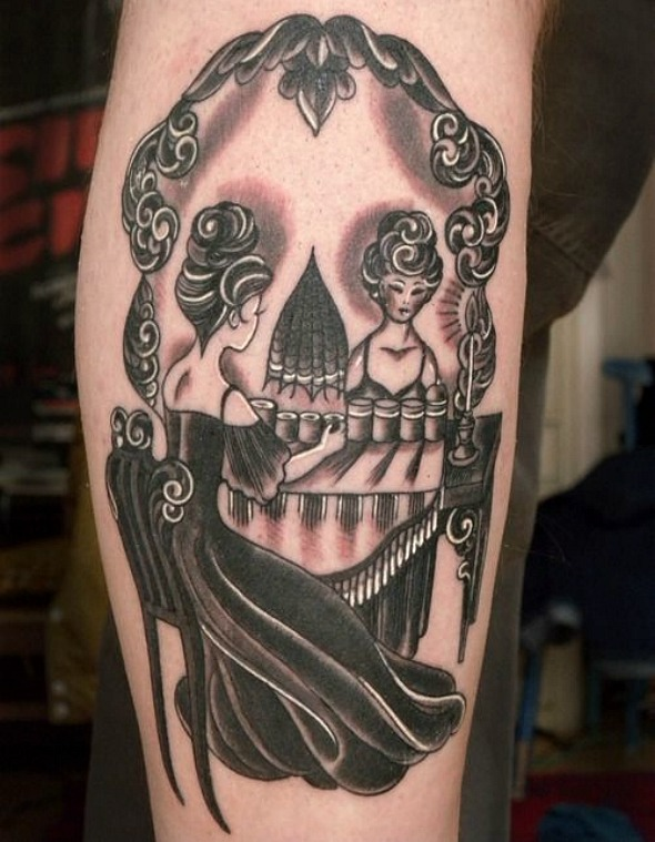 skull illusion woman