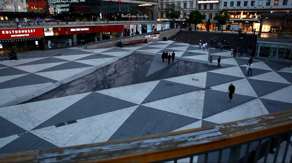 3D Illusion in Stockholms Square