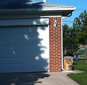 Garage Door Face Illusion