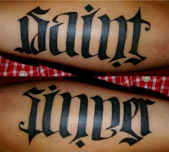 Sinner-Saint-Ambigram-tattoo-39646