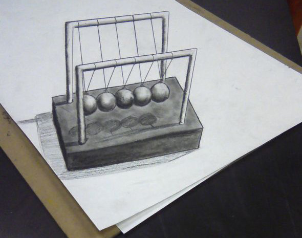 Newtons Cradle Illustration
