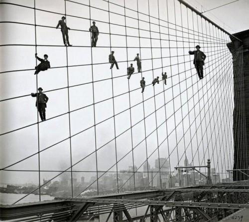 Men on The Bridge Illusion