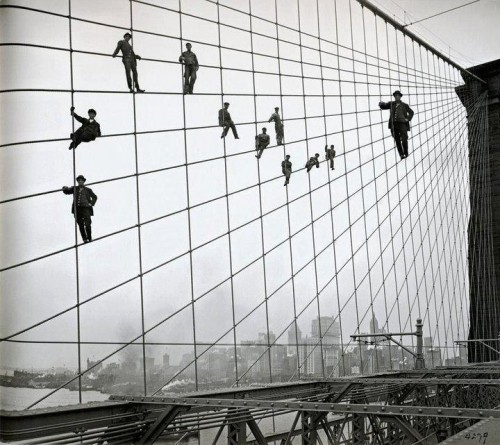 Men on The Bridge Illusion