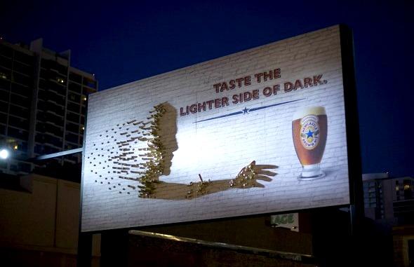 Bottle Cap Shaddow Billboard