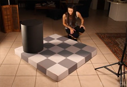 VIDEO Real life Checkers Illusion