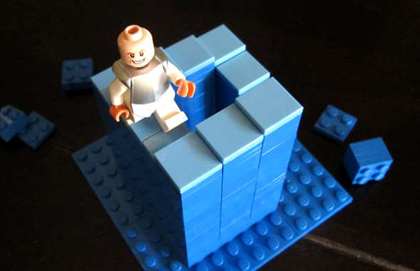 Lego Penrose Stairs Illusion