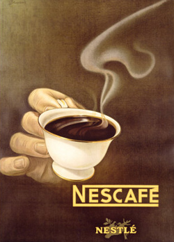 Nestles Nescafe Illusory Poster