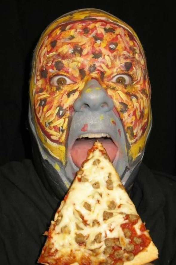 pizza face paint