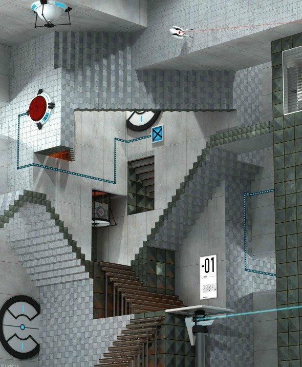 M.C. Escher Meets Portal