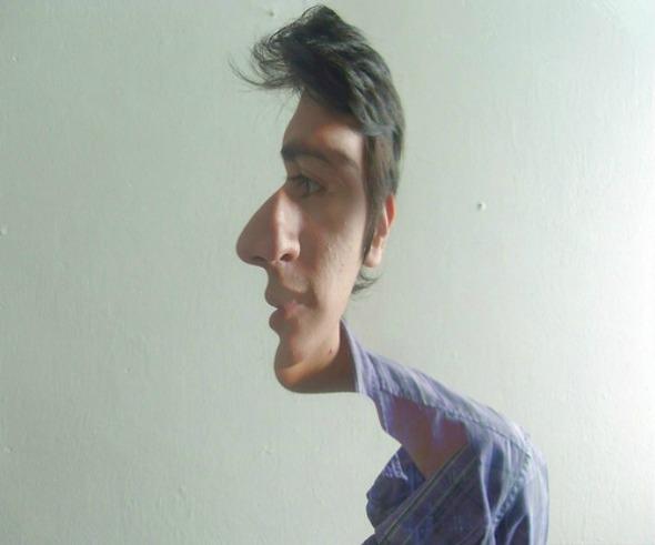 Sideway Face Optical Illusion