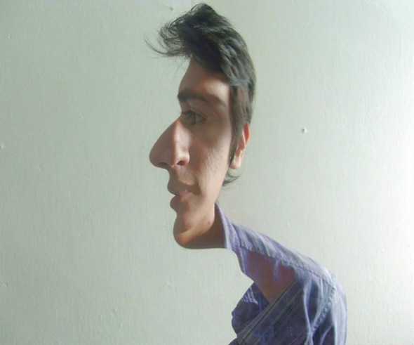 Sideway Face Optical Illusion