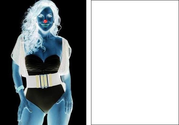 Gorgeous Clown Optical Illusion