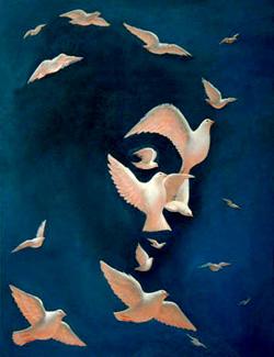 Dove and Peace Optical Illusion