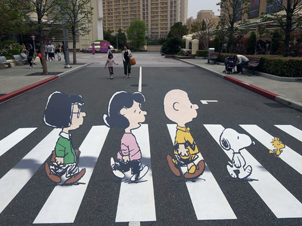 Abbey Road Meets Charlie Brown