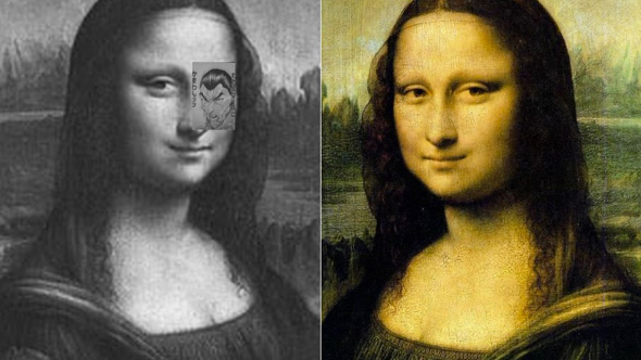 Mona Lisa Manga Optical Illusion