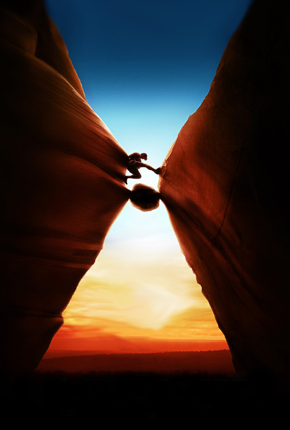 127 Hours Movie Poster Illusion