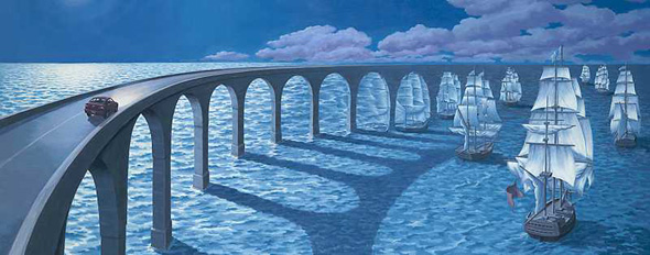 Ship Aqueduct optical illusion
