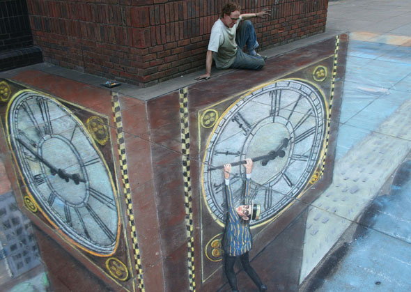 Julian Beever Rides Again!