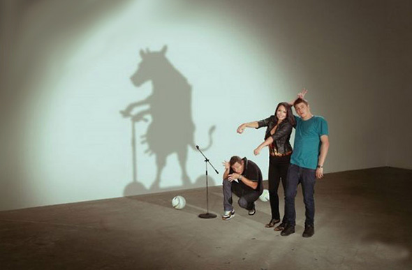 Cow, Monkey and Thinker Shadows