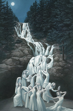 Water Dancers Optical Illusion